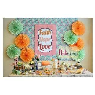 Creative Dessert Table & Party Backdrop