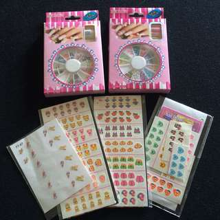 Assorted Nail Art Stickers And Decorations