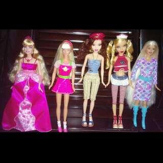 美泰兒 芭比娃娃 / 我的主張 mattel barbie my scene 早期 絕版 超長髮