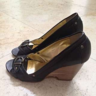 Browns Couture Black leather Wedge Heels