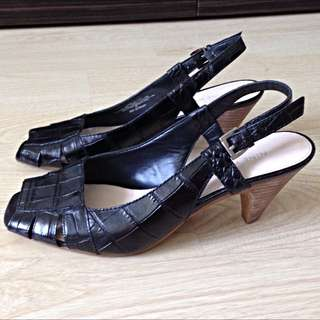 Nine West Crocodile peep-toe slingback heels (Retail $100)
