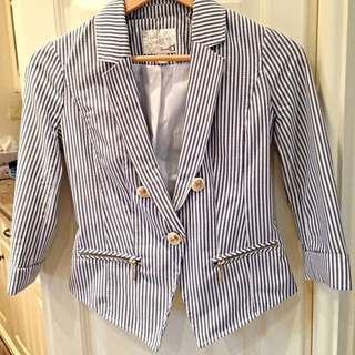 Navy Blue Striped Nautical blazer (Dynamite, retail $45+)