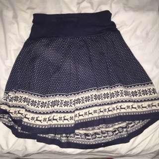 valley girl woolen skirt