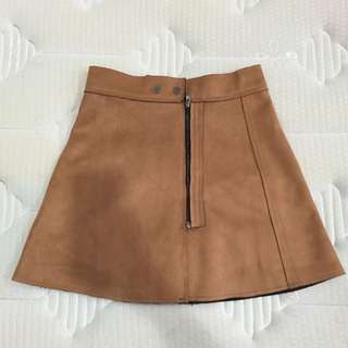 BN Brown Suede Skirt