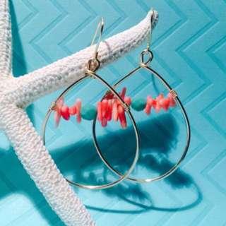 Rose gold Beachy earrings