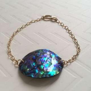 14k/20 Gold Filled Abalone Bracelet