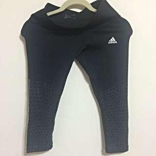 (預定)【Adidas】黑色七分超彈力壓力褲- 全新正品