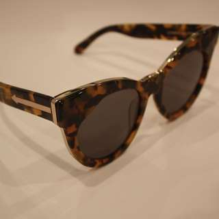 Karen Walker Starburst Tortoiseshell & Gold Cat Sunglasses