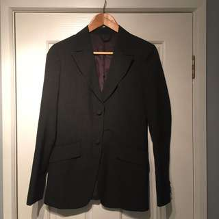 Charcoal Fitted Blazer | XS-S