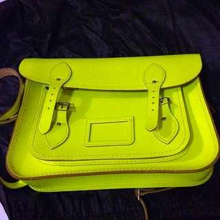 Preloved Yellow Fluoro Cambridge Satchel