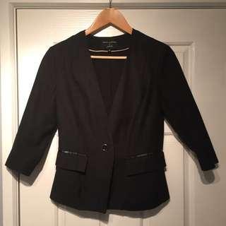 Black Petite Blazer | Size 8