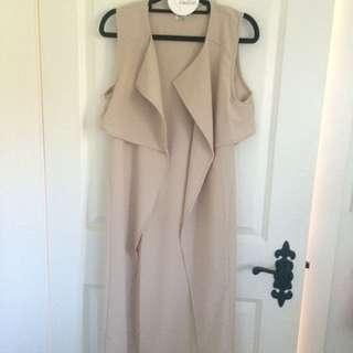 Beige, Cream Long Coat, Cardigan Mura Boutique