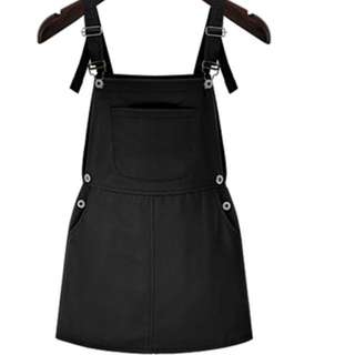 BN Simple Black Dungaree