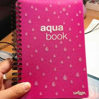 Smiggle Aqua Book NOTEBOOK