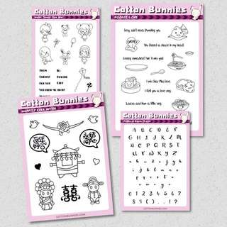Clear Photopolymer Stamps From Cotton Bunnies