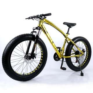 """FAT FAT BIG Wheel . Fierce Dragon Bike . New item . Free Accessories . Good Cushioning & Stable to ride . Suit Rider Height 172 – 183 cm (5'8"""" - 6') (estimate) . Front Suspension . Carousel Chat . Whatsapp . Call . Peter . 81677922"""