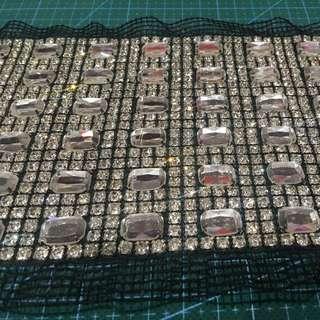 Shiny Glass Rhinestone Net Approximately11.5*40cm
