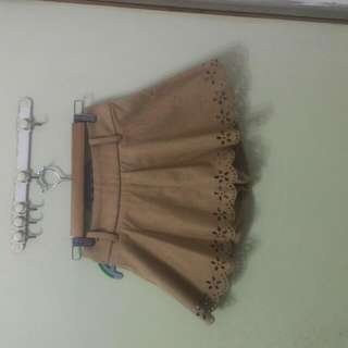 全新駝色褲裙