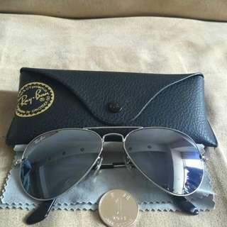 Rayband太陽眼鏡,銀色, 水銀鏡面, 經典款