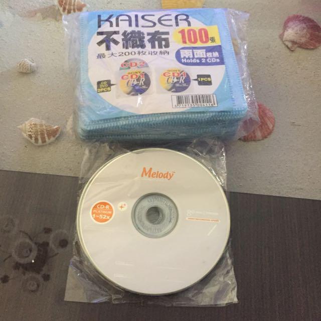 空白光碟加光碟袋