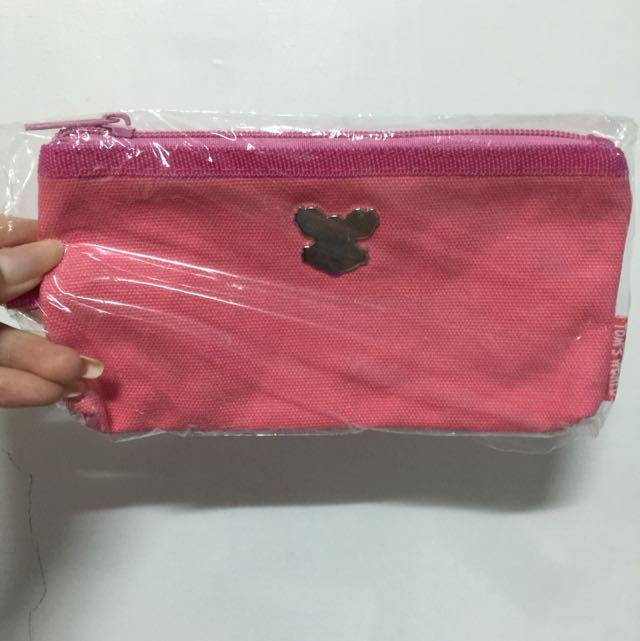 熊 粉紅色 筆袋