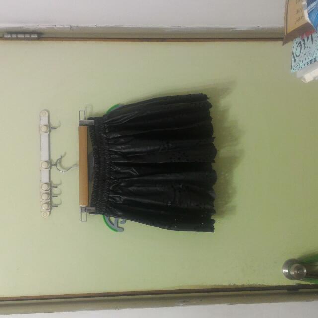 全新Anny's Story黑皮裙褲
