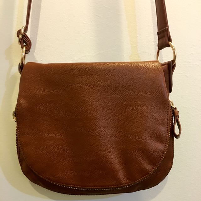 Brown Cross Over Bag