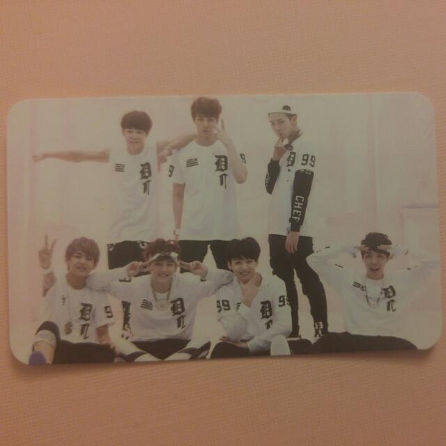 BTS 1st Mini Album Official Group Photo Card O! R U L8 2?