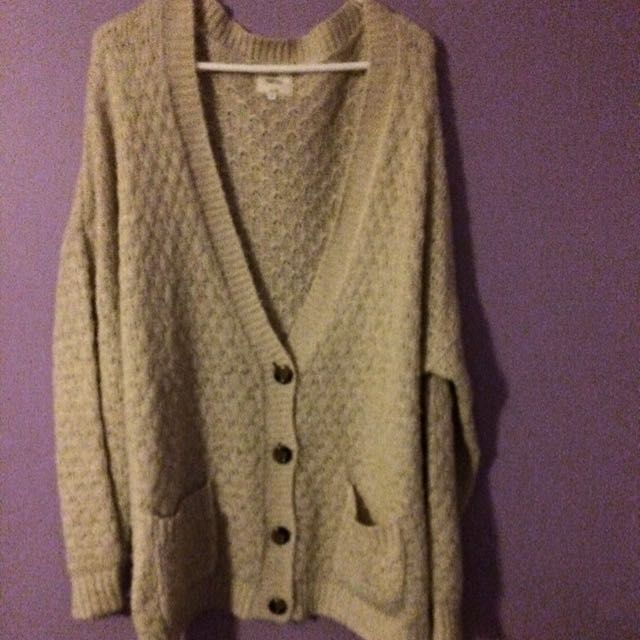 Cream Knitted Jacket Size 18
