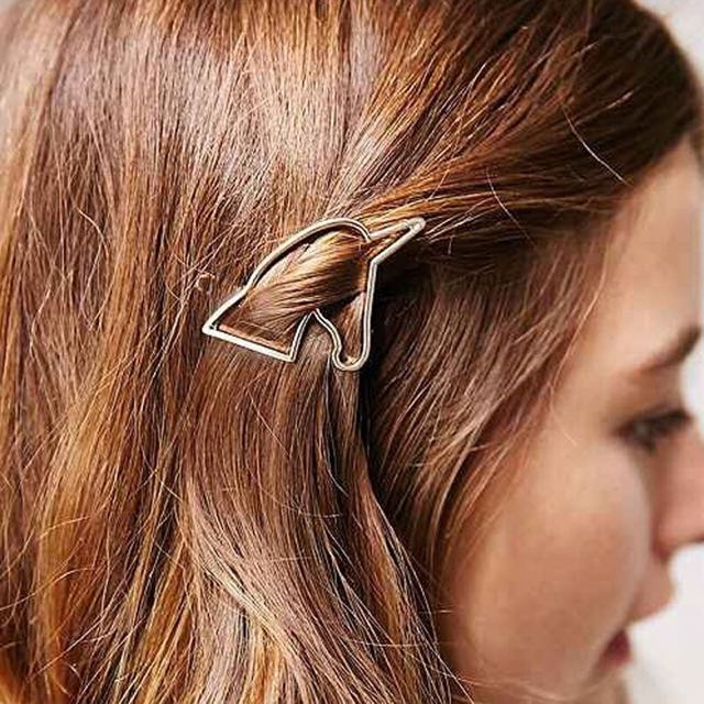 Cute Gold UNICORN Hair Clip-Barrette - Hair Accessory