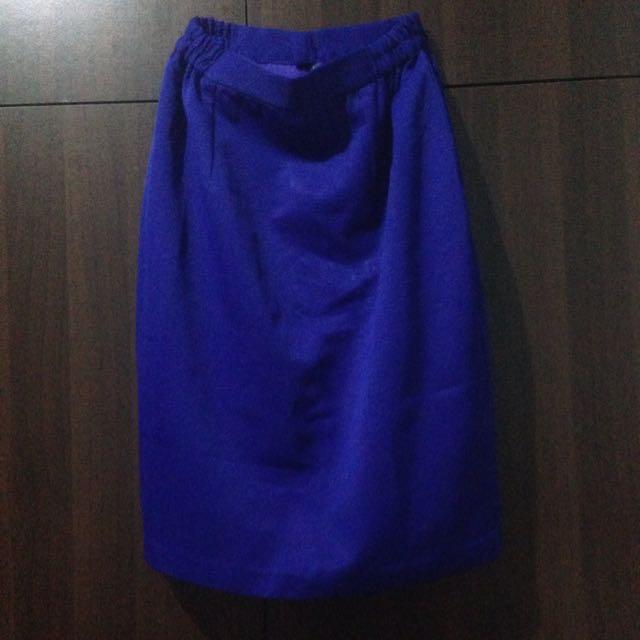 Formal Blue Skirt