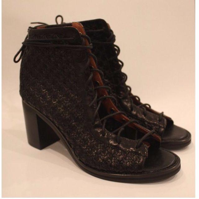 Jeffery Campbell Black Lace-up Heels