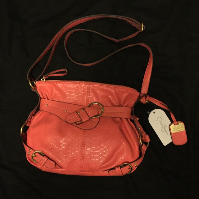 Jessica Simpson Leather Cross-Body Purse