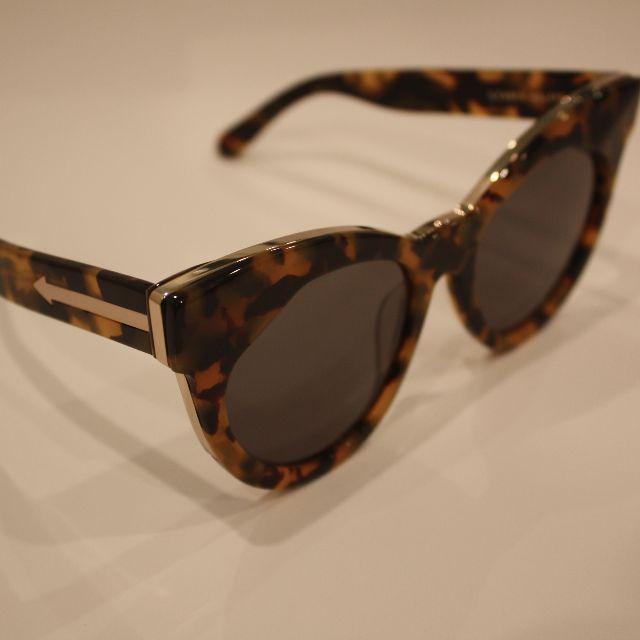 Karen Walker Starburst Tortoiseshell & Gold Cat Sunglasses