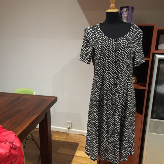 Katies Size 16 navy Jelly Bean Vintage Dress