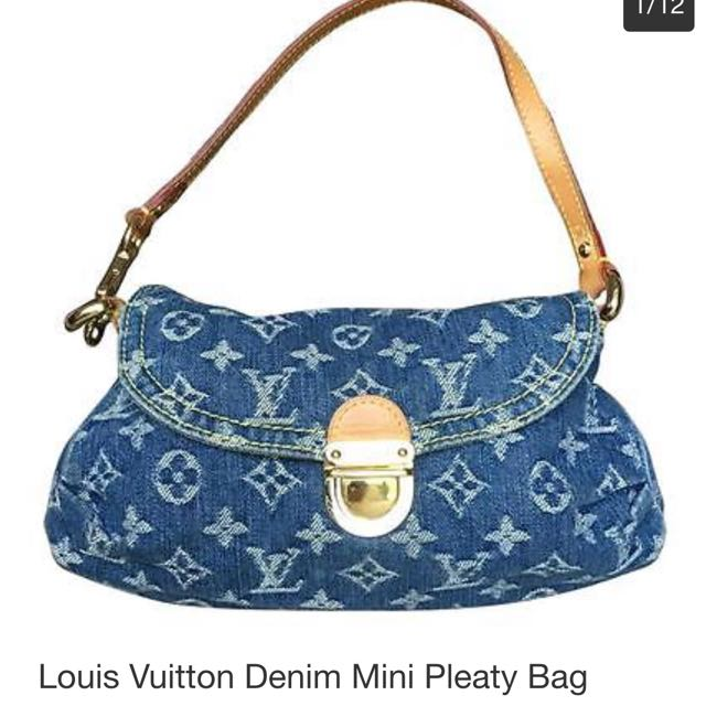 791ef39ea7b Louis Vuitton Denim Mini Pleaty Bag, Women's Fashion on Carousell