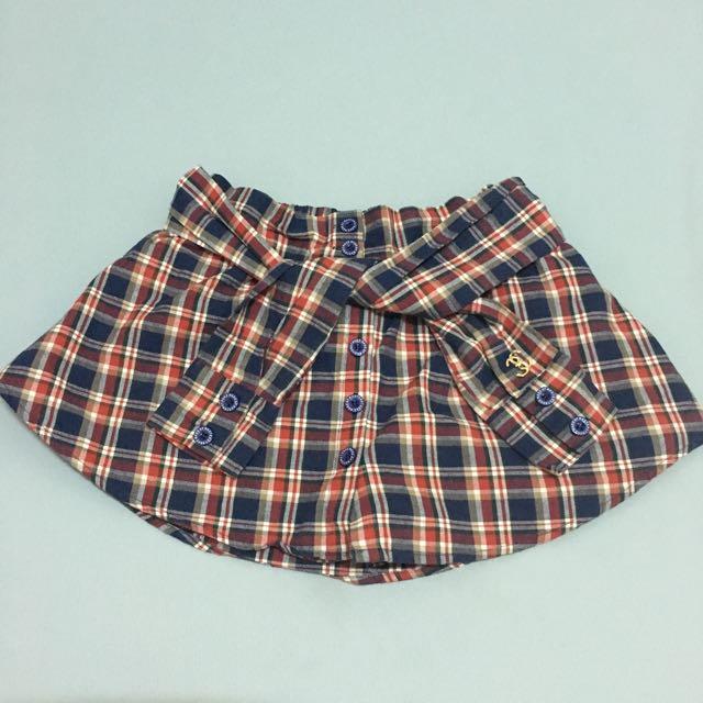 MJR 綁帶格子褲裙 XS