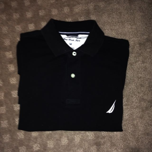 Nautica Polo Shirt Black Size M