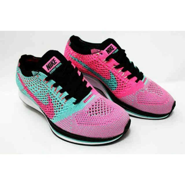 Nike Flyknit Racer Pink/Mint  Wmns