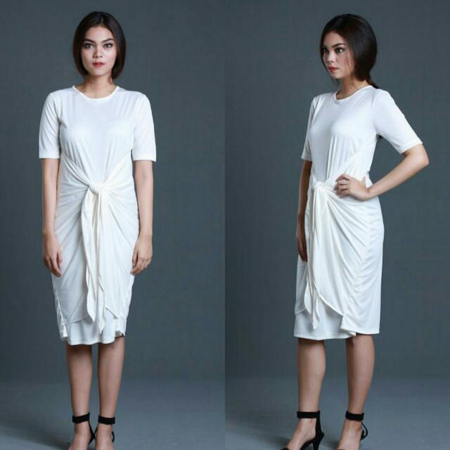 [SELECTED ITEM] IKAT Dress Broken White