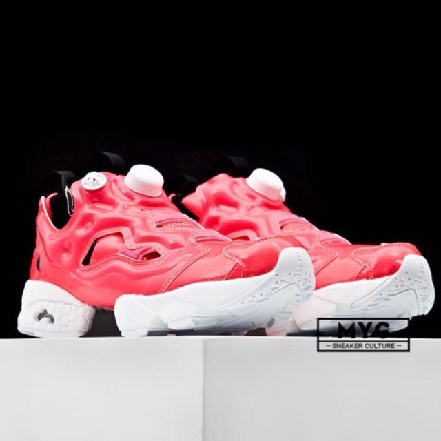 【正品】Reebok Pump Fury 夏日新款 充氣鞋 慢跑鞋 AR1607/AR1606 螢光黃/西瓜桃粉紅