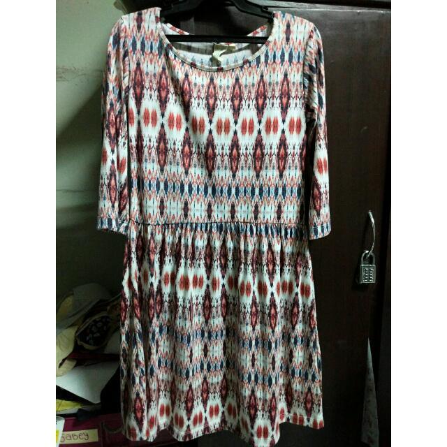 Shapes Aztec-print Skater Dress