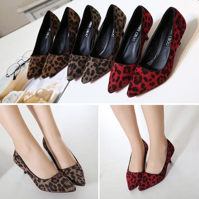 Shoes motif Leopard