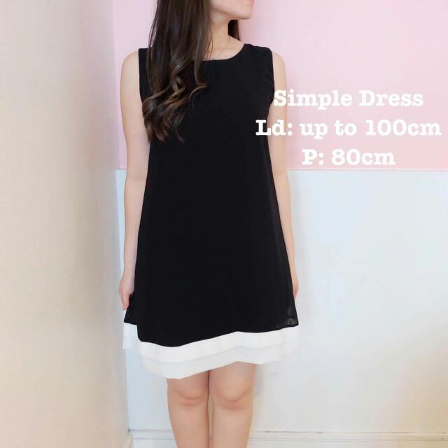 Simple Dress Black And White