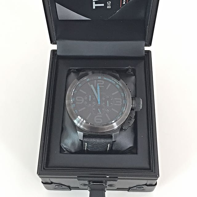e04e666ea9c TW STEEL Canteen Cool Black and Blue Chronograph 50mm Men s Watch ...