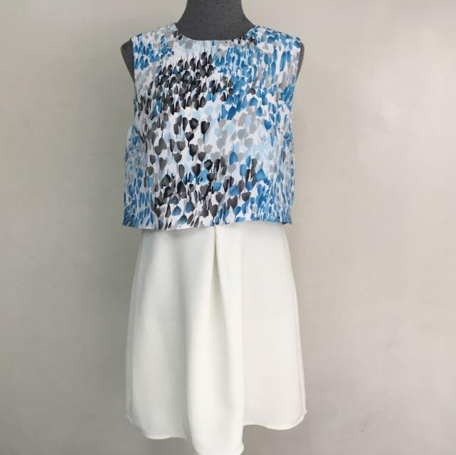 White Blouson Dress