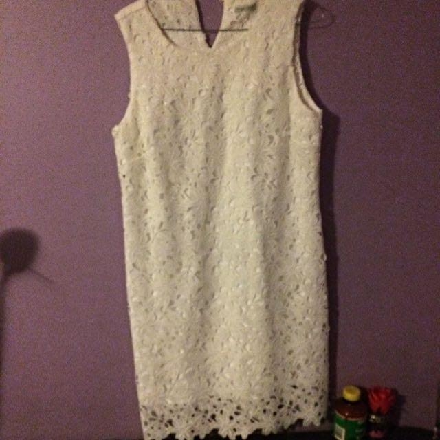 White Target Dress Size 14