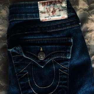Womens LowRise True Religion jeans