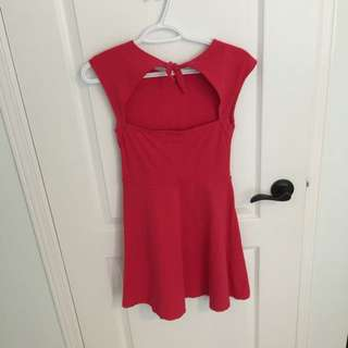 tie up back ruby pink talula dress