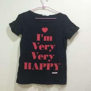 日本 Uniqlo購回 黑色質感修身T恤